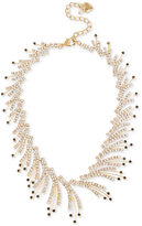 Betsey Johnson Gold-Tone Crystal and Stone Spray Choker Necklace