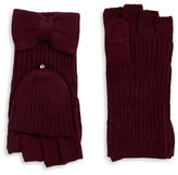 Kate Spade Bow Accented Convertible Gloves