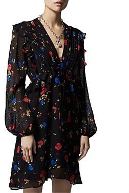 The Kooples Daydream Flowers Silk Mini Dress