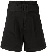 FEDERICA TOSI belted wide leg shorts