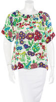 See by Chloe Floral Print Short Sleeve Top