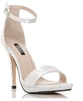 Quiz Jacquard Barely There Platform Stiletto Heeled Sandal