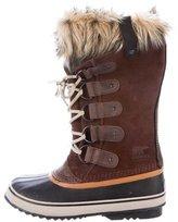Sorel Fur-Trimmed Knee-High Snow Boots