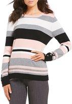 Investments Petites Long Sleeve Crew Neck Sweater