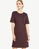 Ann Taylor Diamond Knit Shift Dress