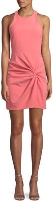 Cinq à Sept Knot-Front Halter Mini Dress
