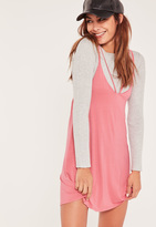 Missguided Pink Cross Front Harness Mini Dress