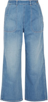 MiH Jeans Cropped chambray wide-leg pants