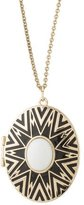 House Of Harlow Enamel & Resin Locket Pendant Necklace