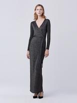 Diane von Furstenberg Evelyn Maxi Knit Wrap Dress
