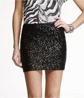 Express Sequin Mini Skirt