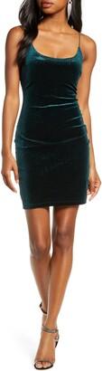 Sequin Hearts Velvet Glitter Body-Con Dress