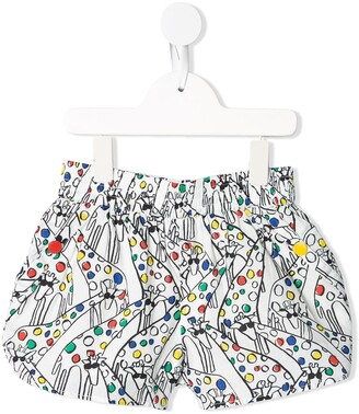 Stella McCartney Kids Giraffe-print shorts