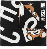Moschino knitted teddy scarf