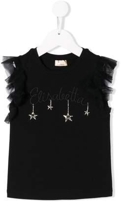 Elisabetta Franchi La Mia Bambina embroidered detail blouse