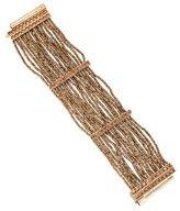 Christian Dior Crystal & Bead Multistrand Bracelet