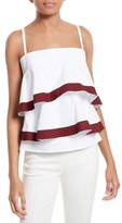 Tory Burch Women's Sage Flounced & Tiered Tank Top