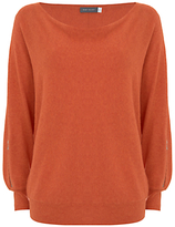Mint Velvet Zip Sleeve Batwing Jumper