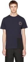 McQ by Alexander McQueen Indigo & Black Colorblock Glyph Logo T-Shirt