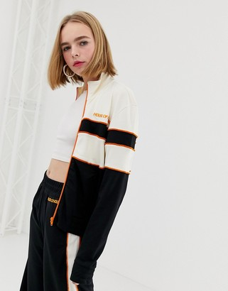 House of Holland Missy contrast panelled track jacket