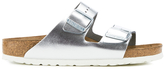 Birkenstock Women's Arizona Slim Fit Double Strap Sandals Metallic Silver