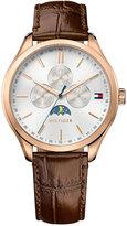 Tommy Hilfiger Men's Sport Lux Brown Leather Strap Watch 42mm 1791306