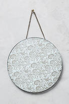 Anthropologie Frosted Flowers Mirror