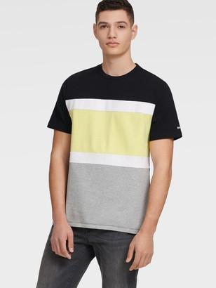 DKNY Men's Colorblock Tee - Black - Size XS