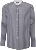 Peter Werth Men's Chamber Striped Grandad Collar Shirt