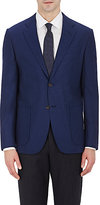 Barneys New York MEN'S TWO-BUTTON SPORTCOAT-NAVY SIZE 38 R