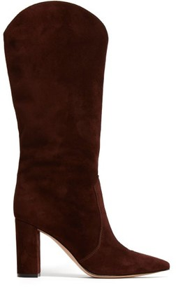 Gianvito Rossi Navarre 85 Suede Boots - Dark Brown