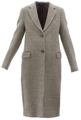 Officine Generale Eden Prince Of Wales Checked Wool Coat - Womens - Black White