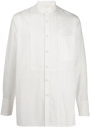 Ziggy Chen Mandarin Collar Cotton Shirt