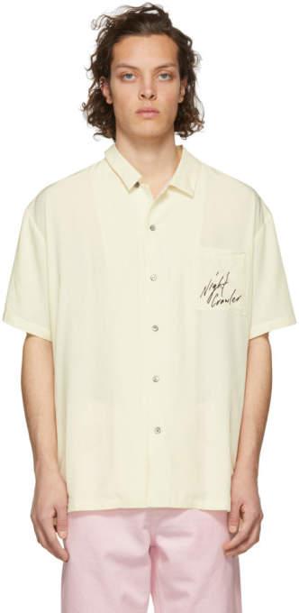 Off-White Double Rainbouu Night Crawler Tiger Hawaiian Shirt