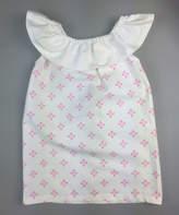 Princess Linens White & Pink Avery Ruffle Yoke Dress - Infant, Toddler & Girls