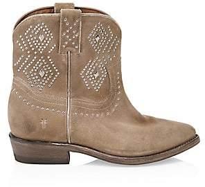 c1657a7d111 Women's Billy Studded Suede Short Cowboy Boots