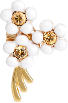 Alison Lou Sapphire, enamel & yellow-gold Daisy earring
