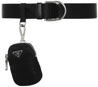 Prada Leather belt with pouch
