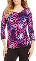 Investments Essentials Printed 3/4 Sleeve Top