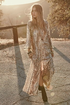 Anna Sui Silver Maxi Dress