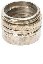 Tobias Wistisen textured ring set