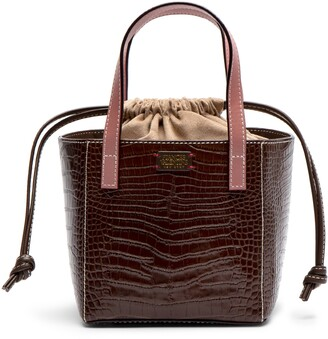 Frances Valentine Moxy Croc Embossed Mini Tote