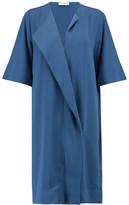 By Malene Birger Hobbis Draped Crepe Mini Dress
