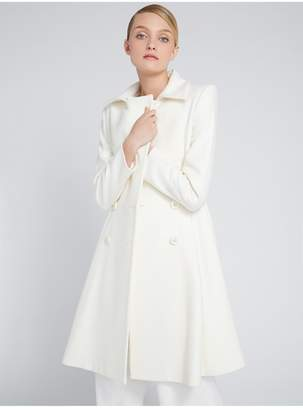 Alice + Olivia Leila Fit And Flare Pleated Coat