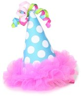 Mud Pie Baby-Girls Infant Chiffon Party Hat Clip