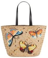 Franchi Textured Cotton-Blend Tote