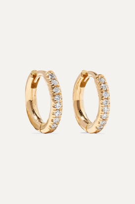 Ileana Makri 18-karat Gold Diamond Hoop Earrings