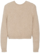 Givenchy Beige Angora-blend Sweater With Elasticated Back Band - medium