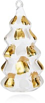 Bloomingdale's Gold Painted Glass Christmas Tree Ornament