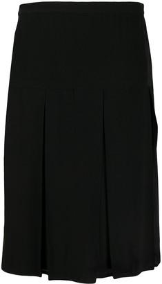 Gianfranco Ferré Pre-Owned Box-Pleat Midi Skirt